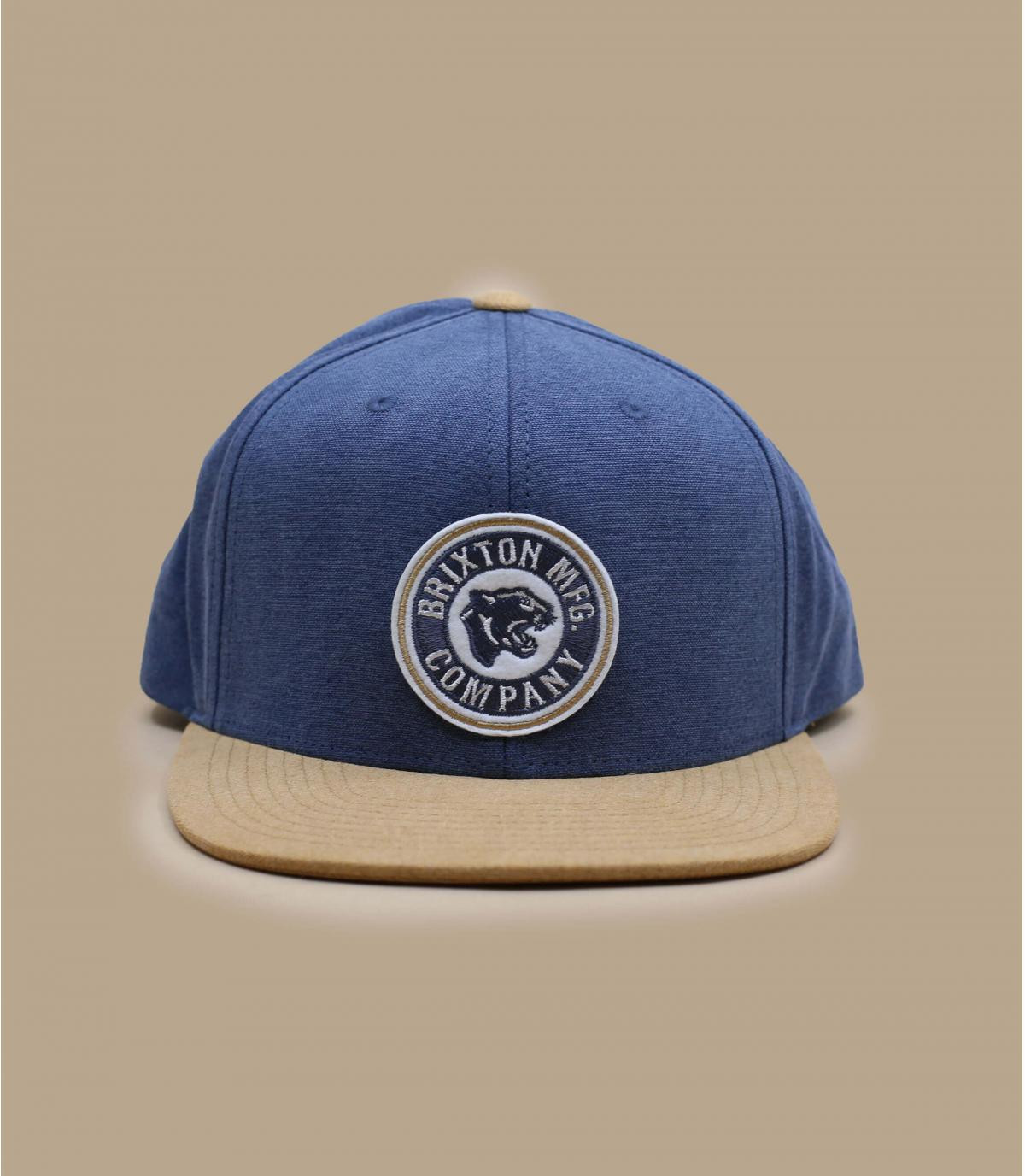 Cap Brixton blau beige