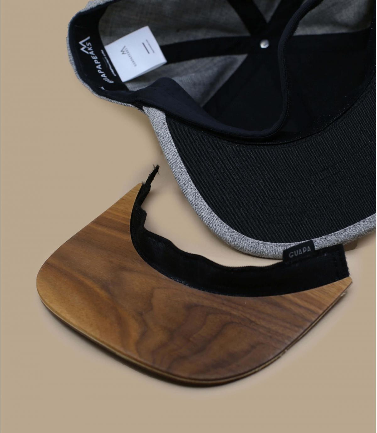 Details Snapback Recycled heather grey - Abbildung 4