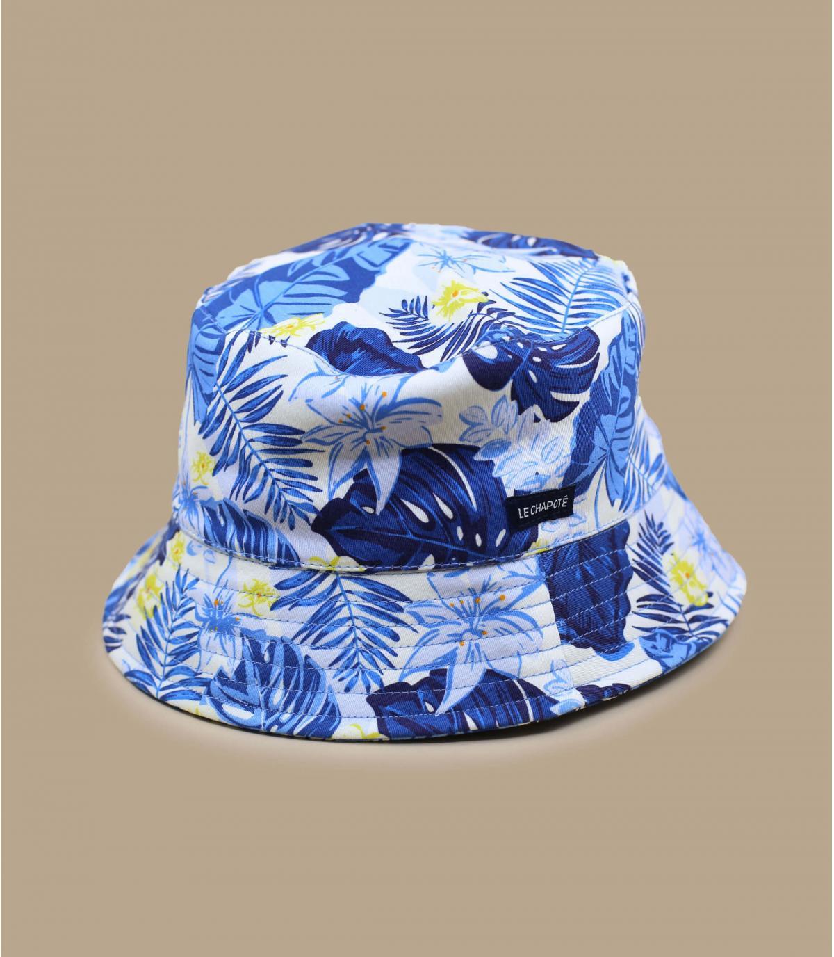 Fischerhut Dschungel blau