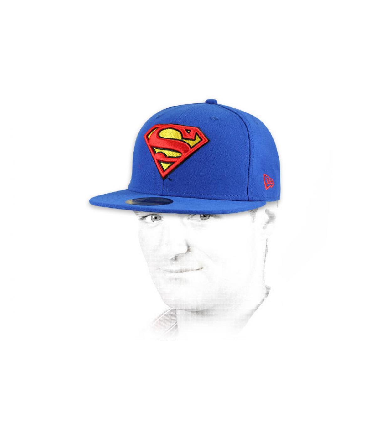 Details Cap Superman black - Abbildung 4