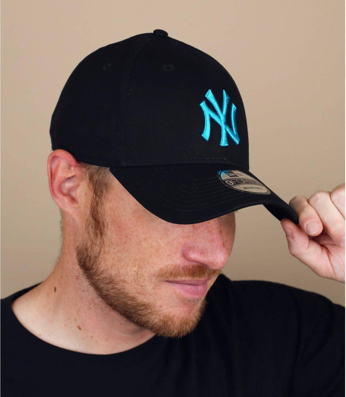Cap NY schwarz blau
