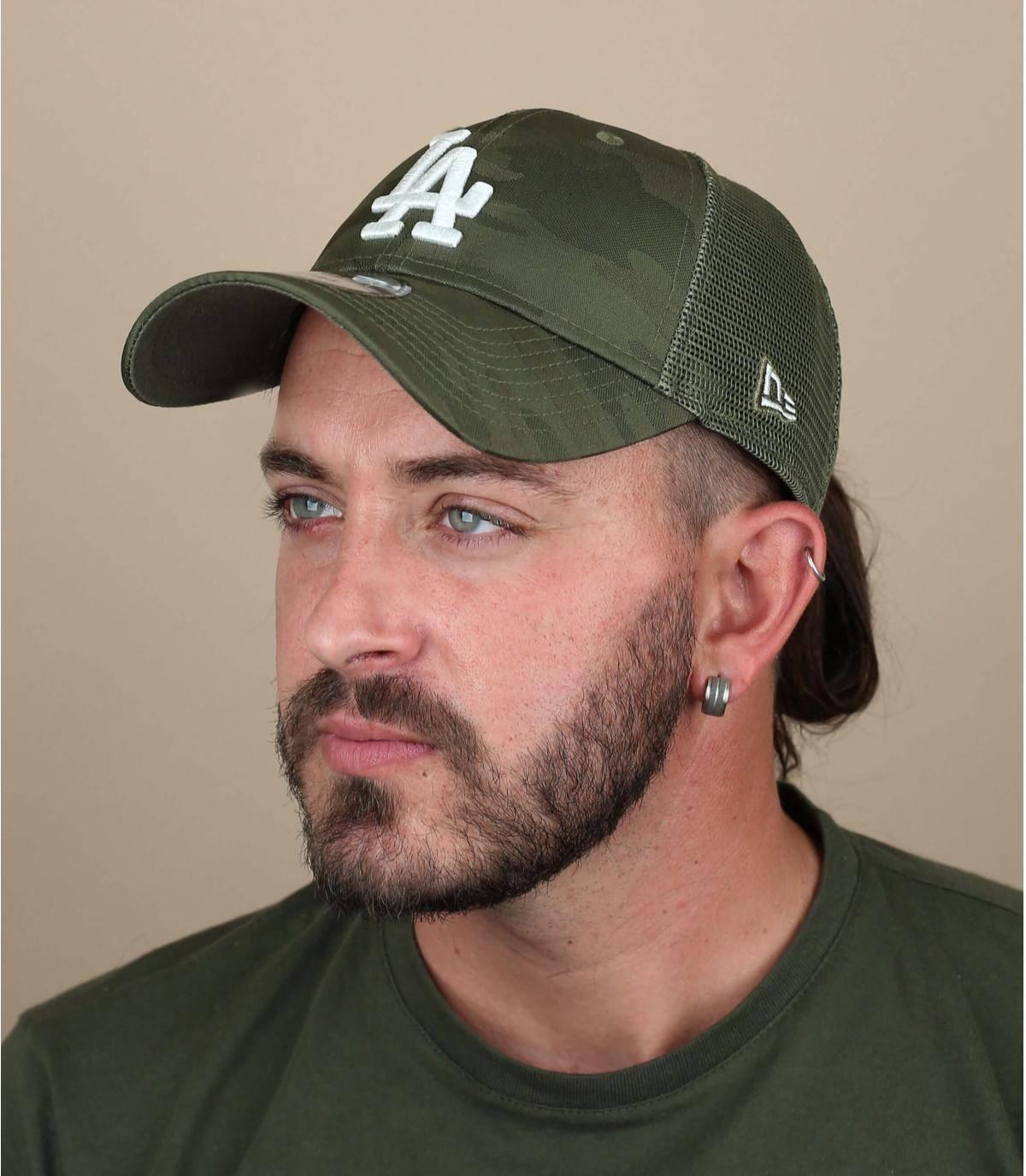 Trucker Cap LA grün camo