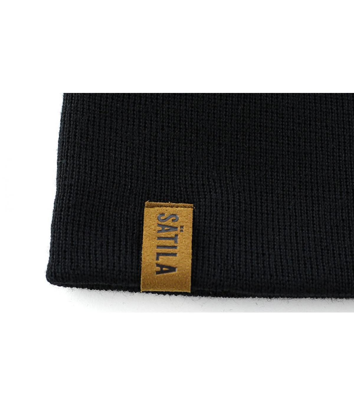 Details S.F schwarze Damenmütze - Abbildung 2