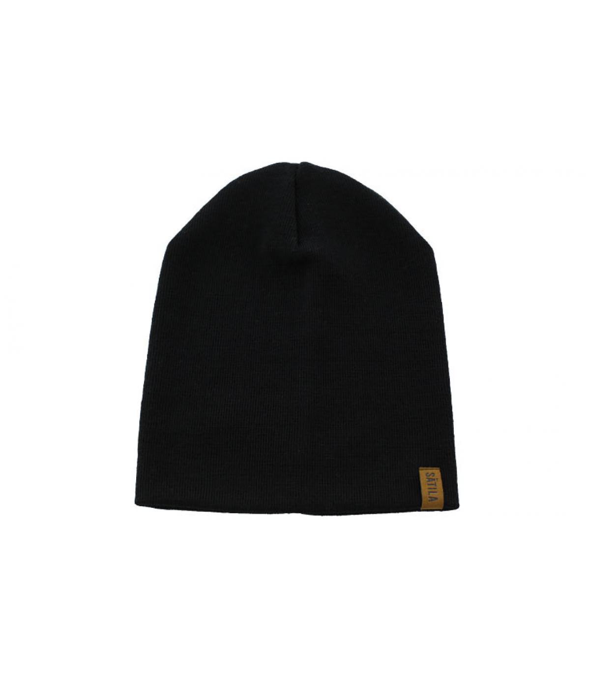 Details S.F schwarze Damenmütze - Abbildung 3