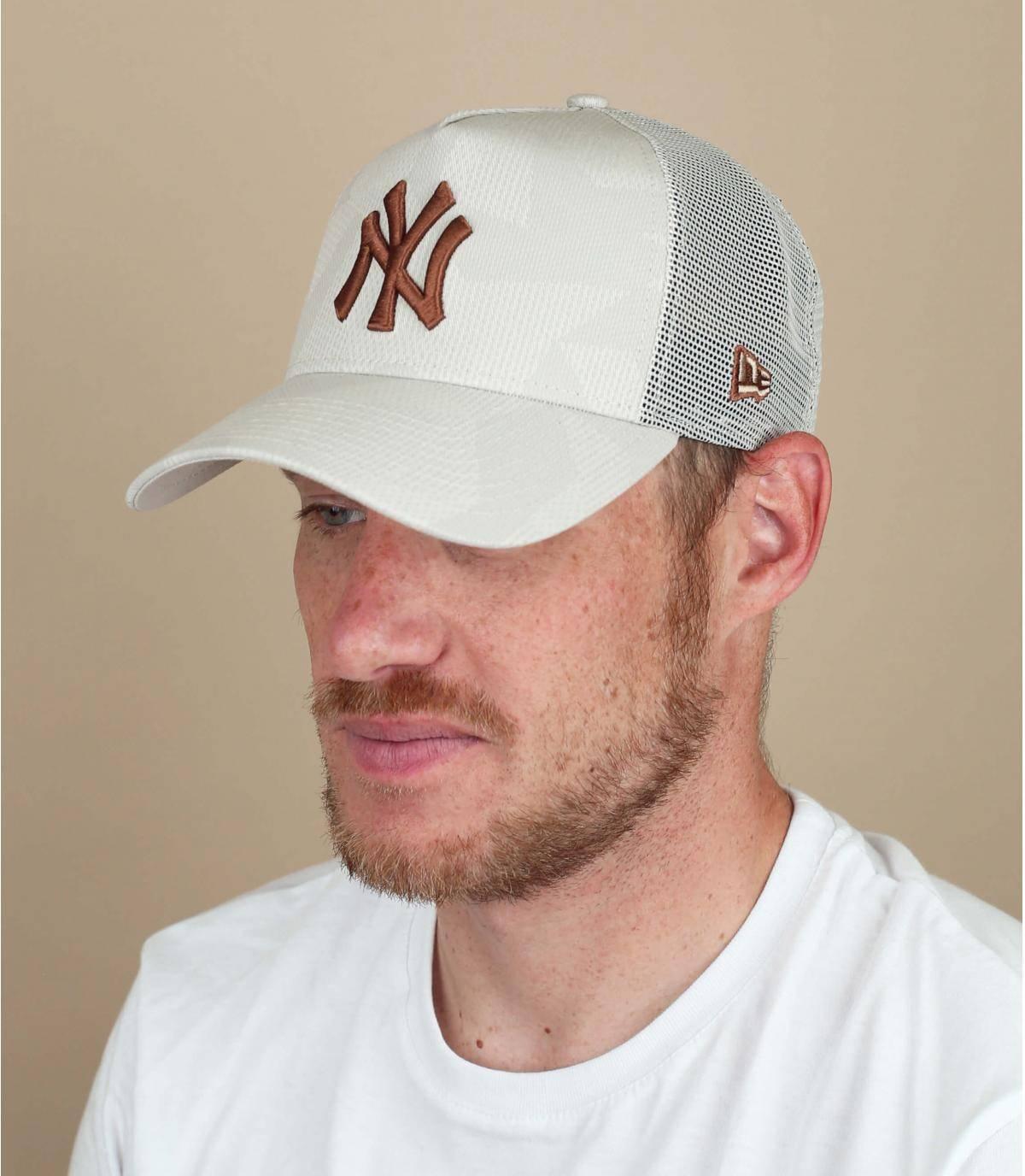 Trucker Cap NY beige