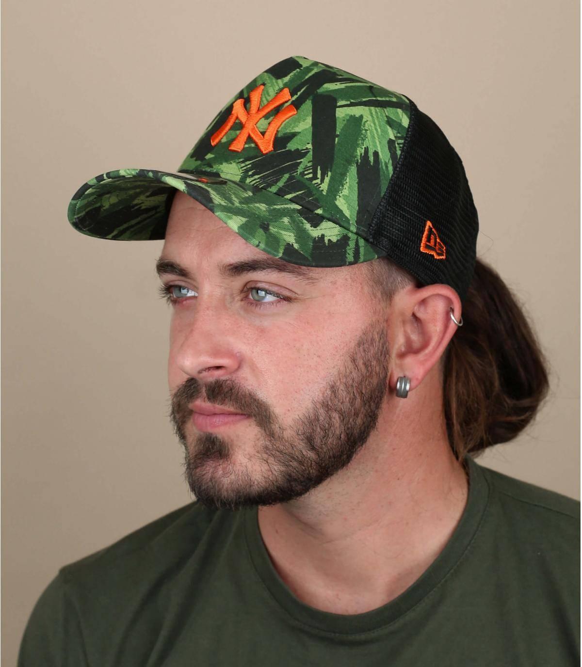 Trucker Cap NY bedruckt grün