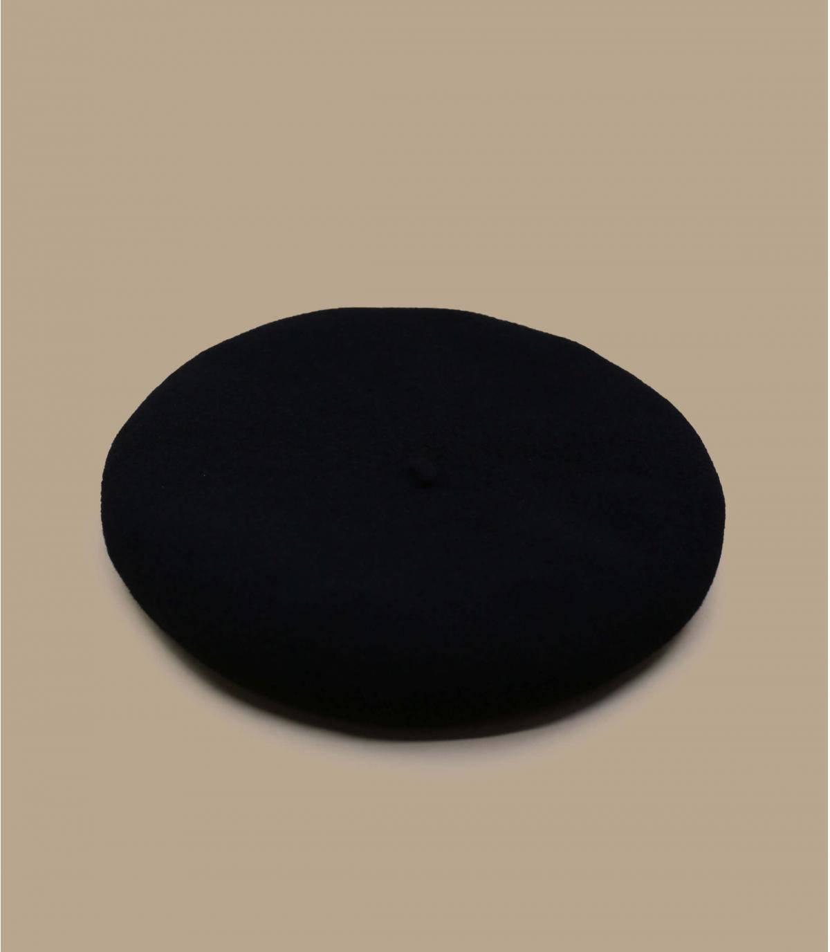 Baskenmütze Wolle schwarz