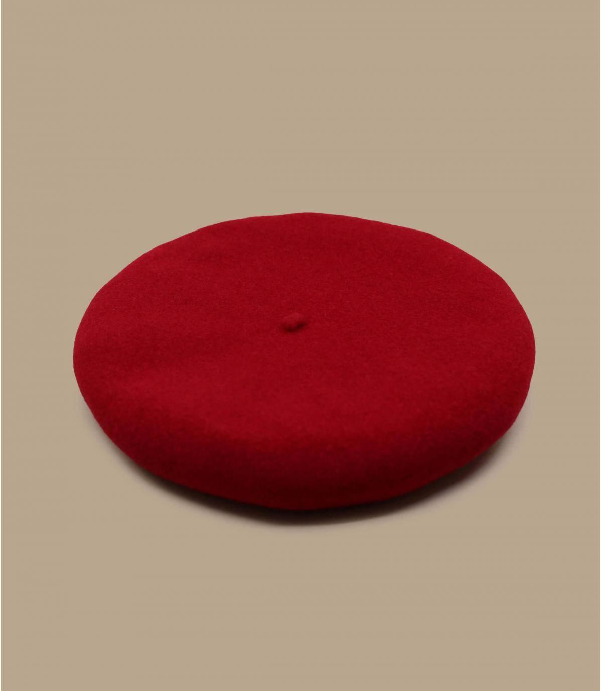 Baskenmütze Wolle rot