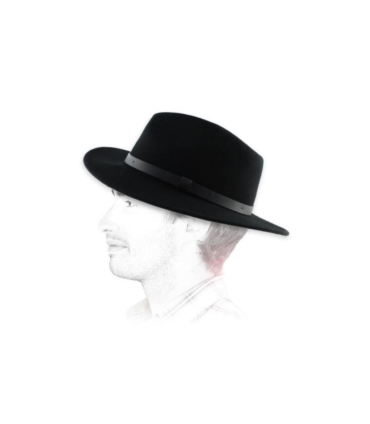 Schwarzer Herren Fedora Hut