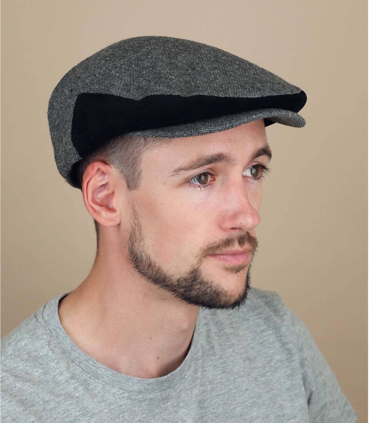 Flatcap Brixton schwarz grau