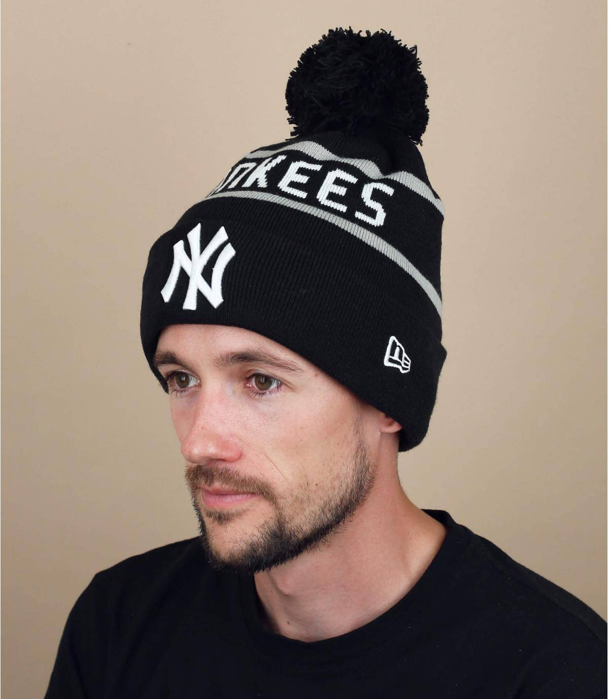 Mütze NY schwarz