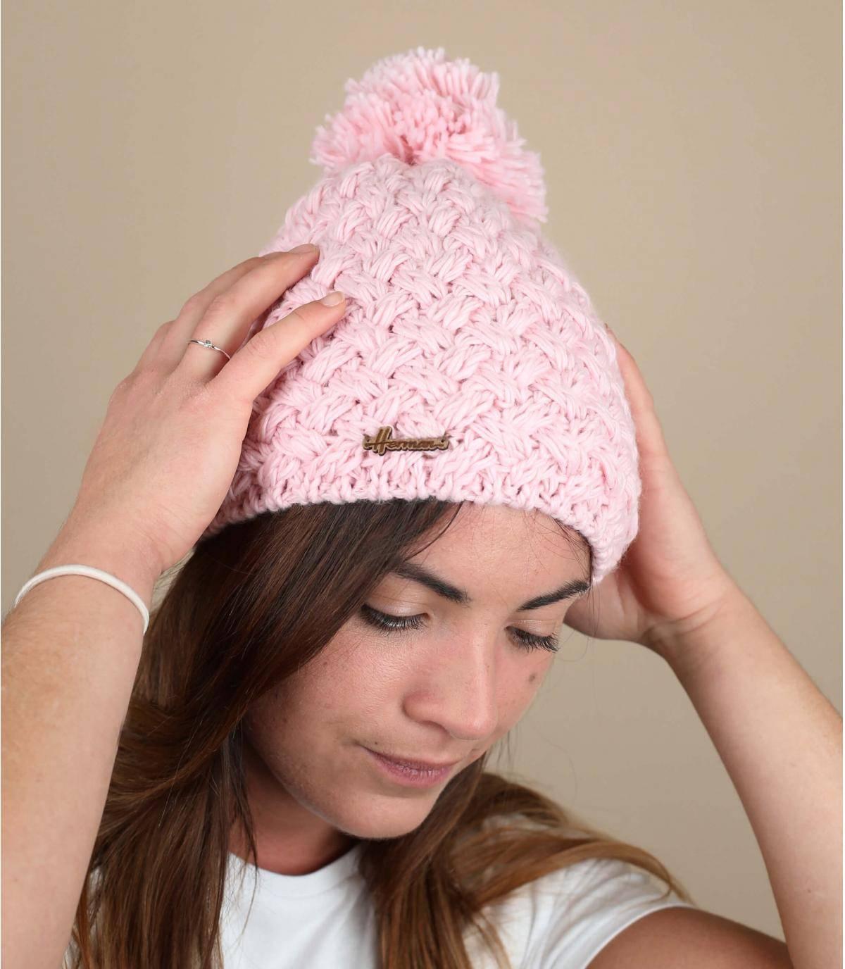Bommelmütze rosa