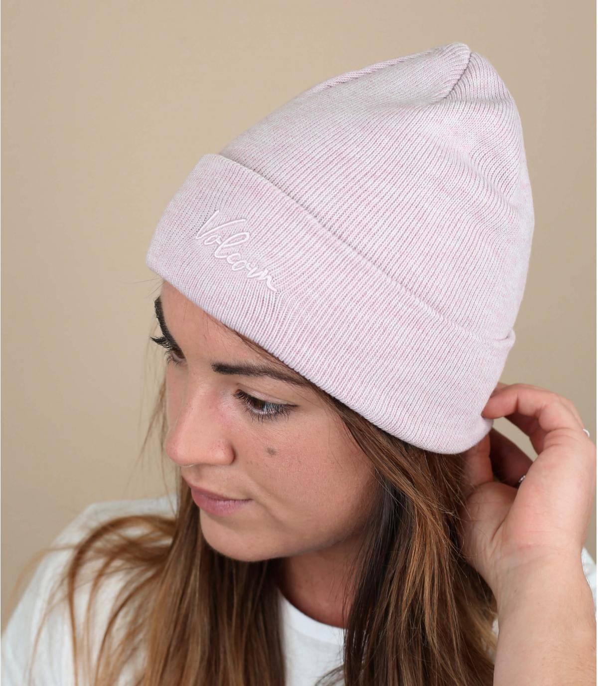 Umschlag Mütze rosa Volcom