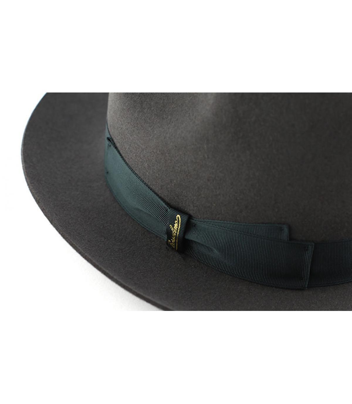 grey fur felt hat for men