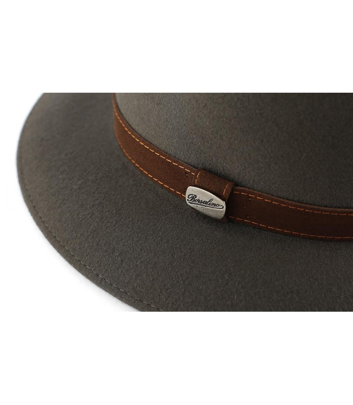 Details Alessandria grey fur felt hat - Abbildung 2