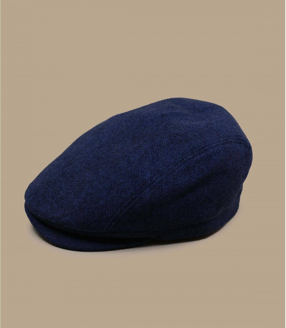 Schiebermütze blau Wolle