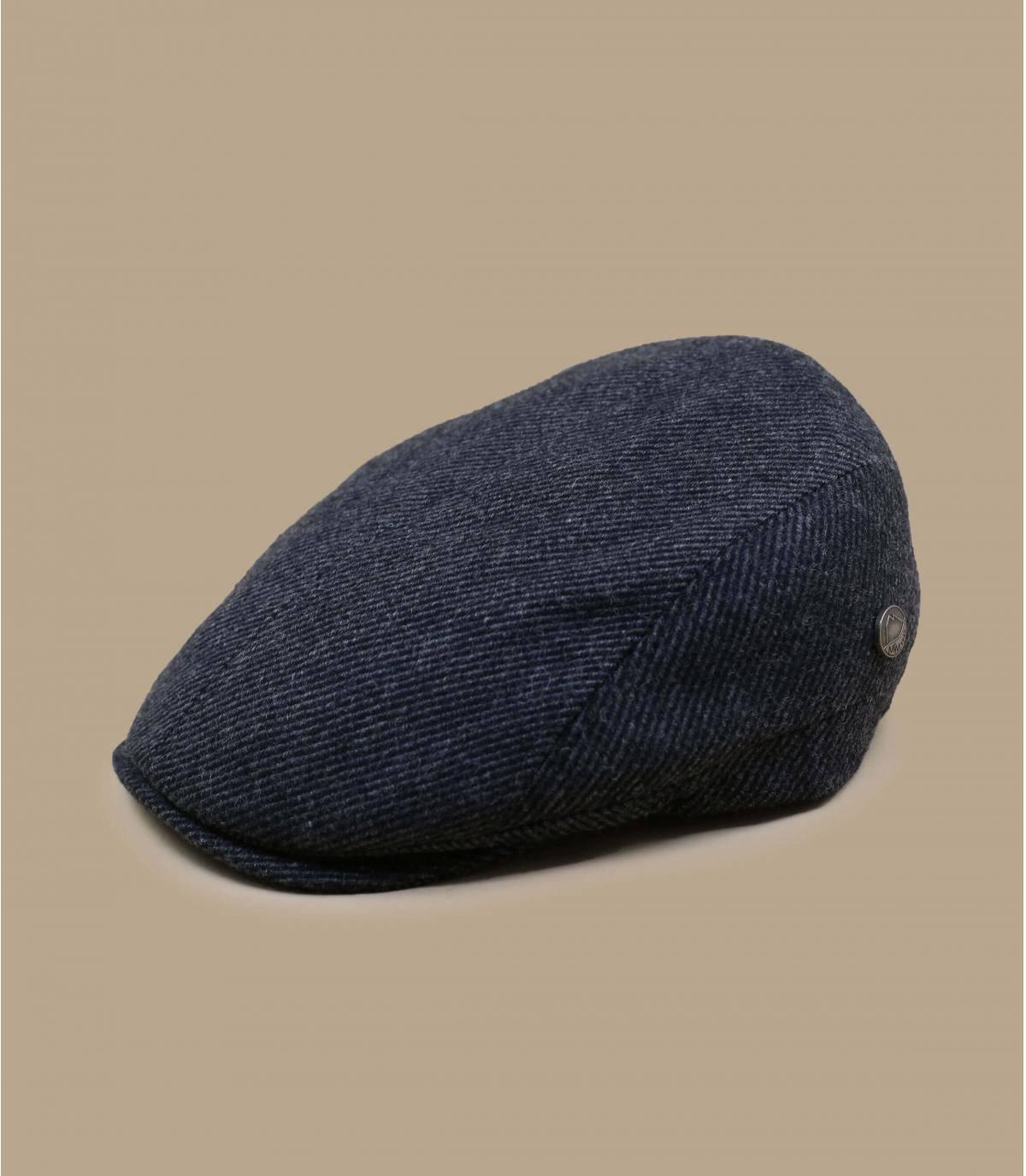 Flatcap recycelte Wolle grau