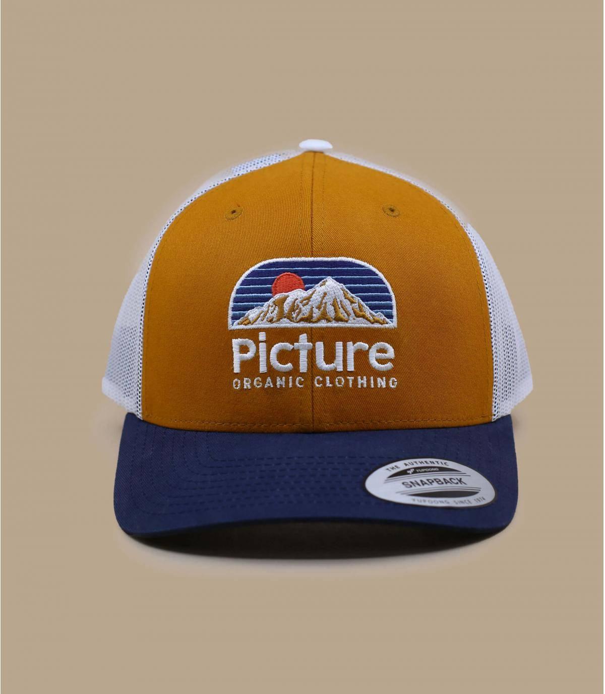 trucker Cap Picture gelb blau