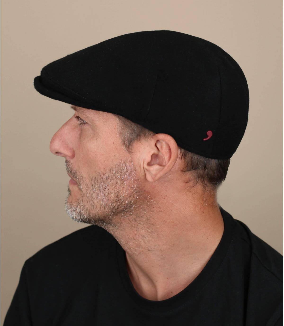 Flatcap Kaschmir schwarz