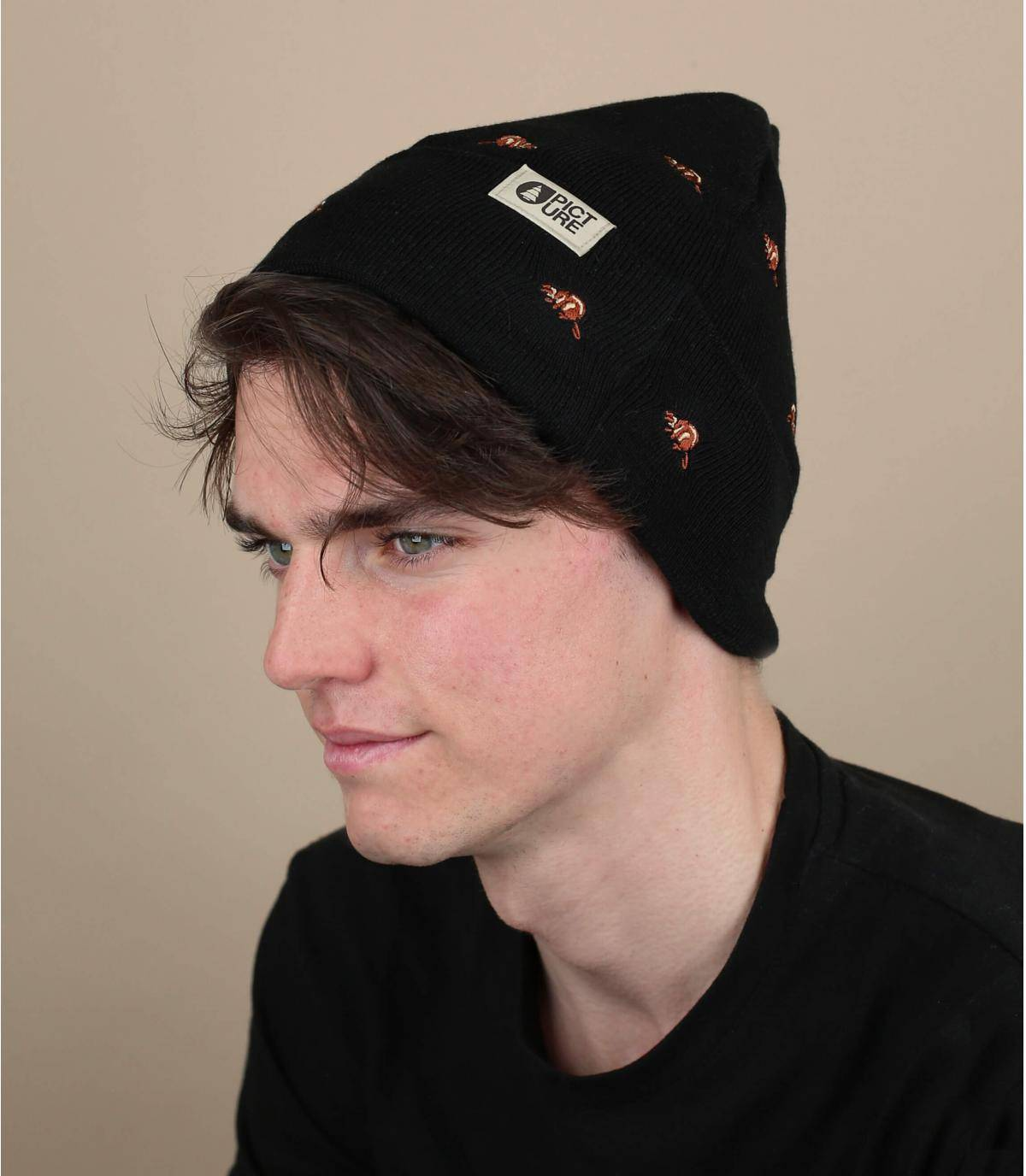 Mütze Biber schwarz