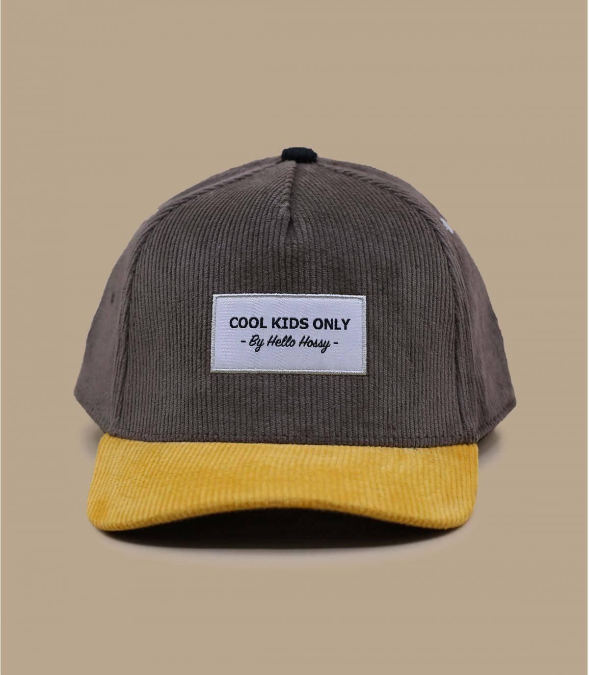 Kinder Cap grau gelb