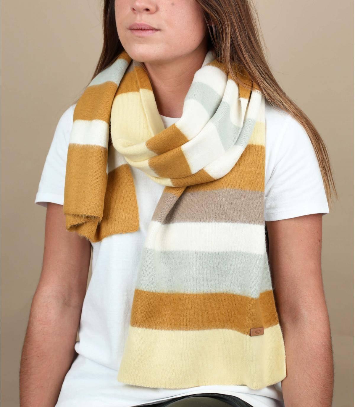 Schal Streifen gelb