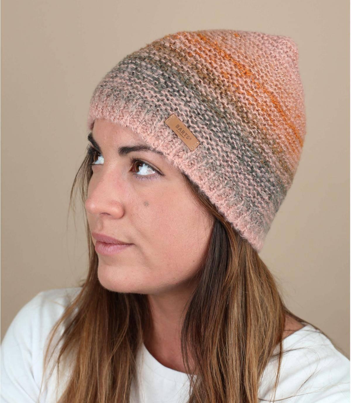 Mütze Streifen rosa