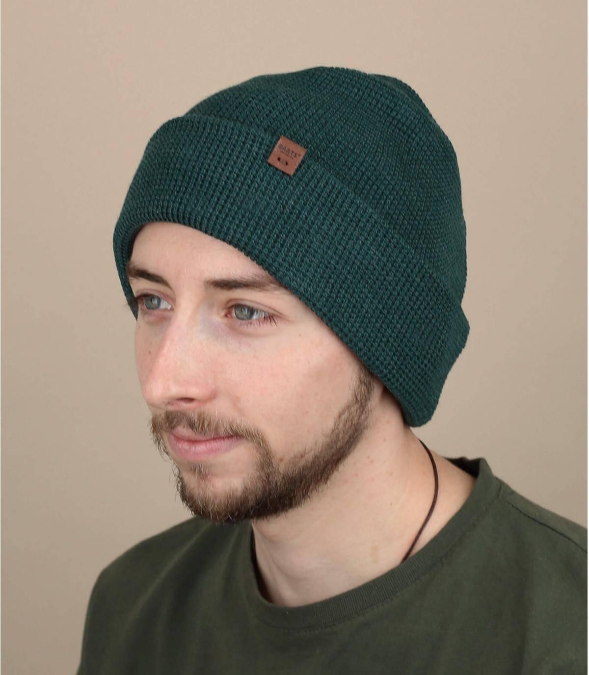 Lange Mütze grün
