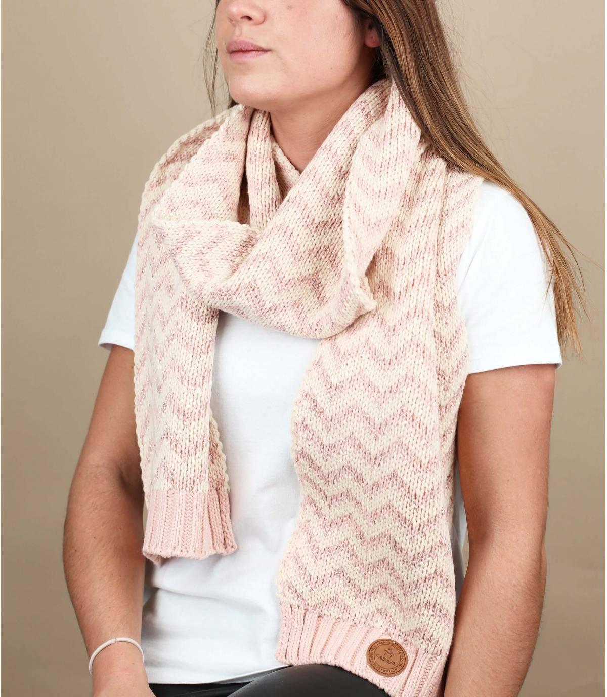 Schal rosa Lurex