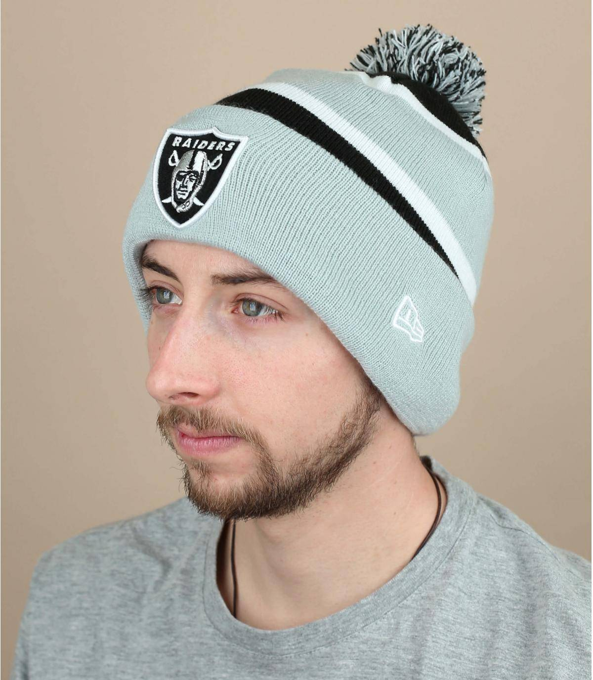 Mütze Raiders grau