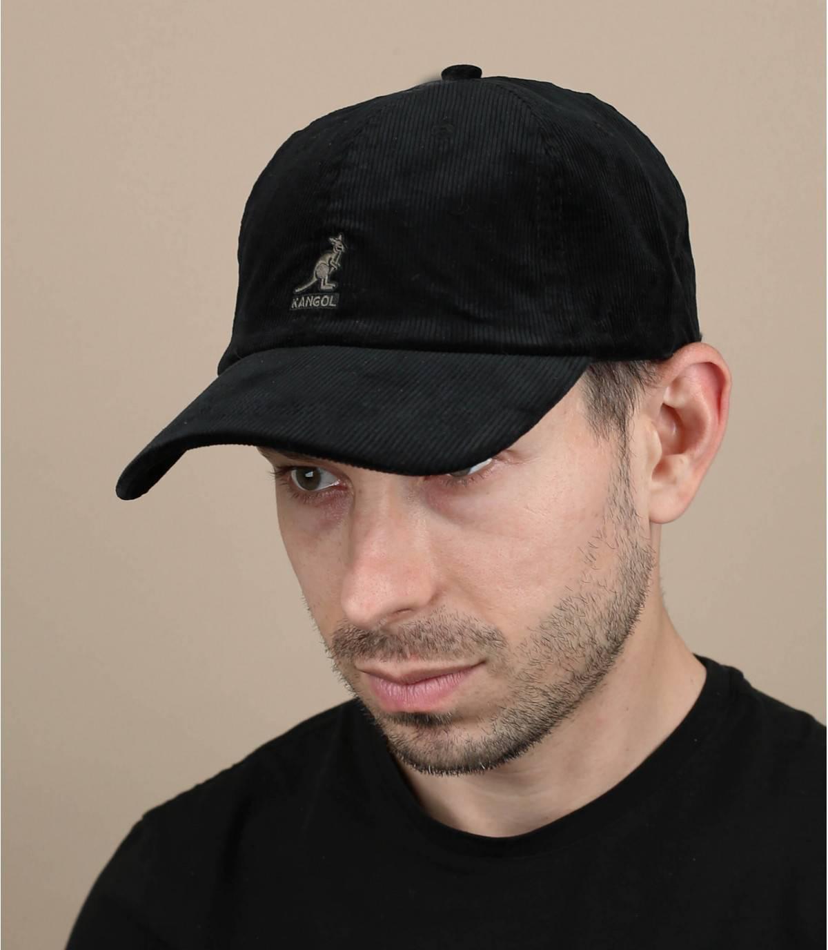 Cap Korsamt schwarz