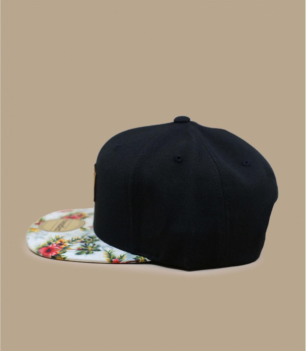 Details Snapback Let's Drive black floral - Abbildung 3