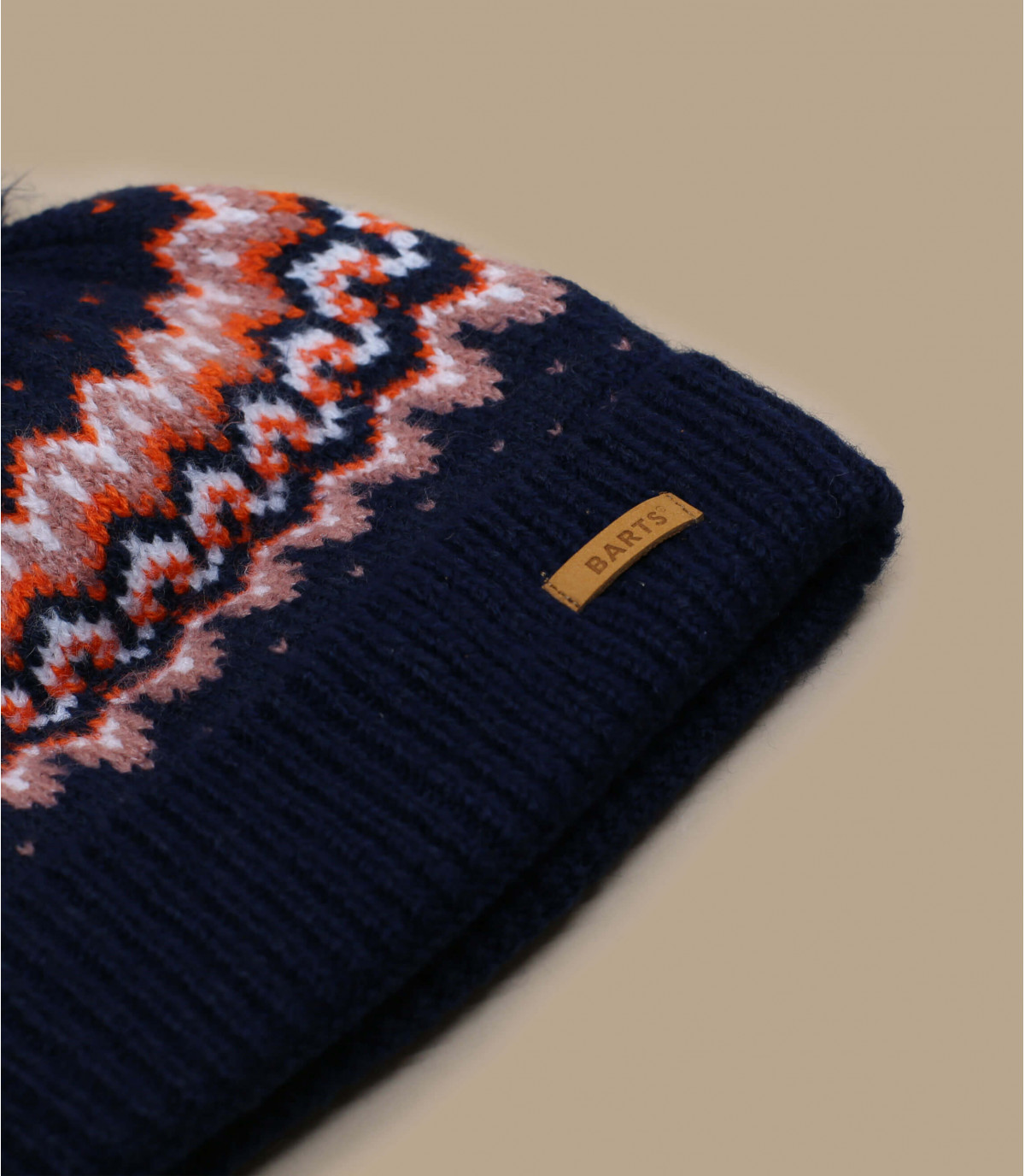 Bommel Mütze Mädchen blau