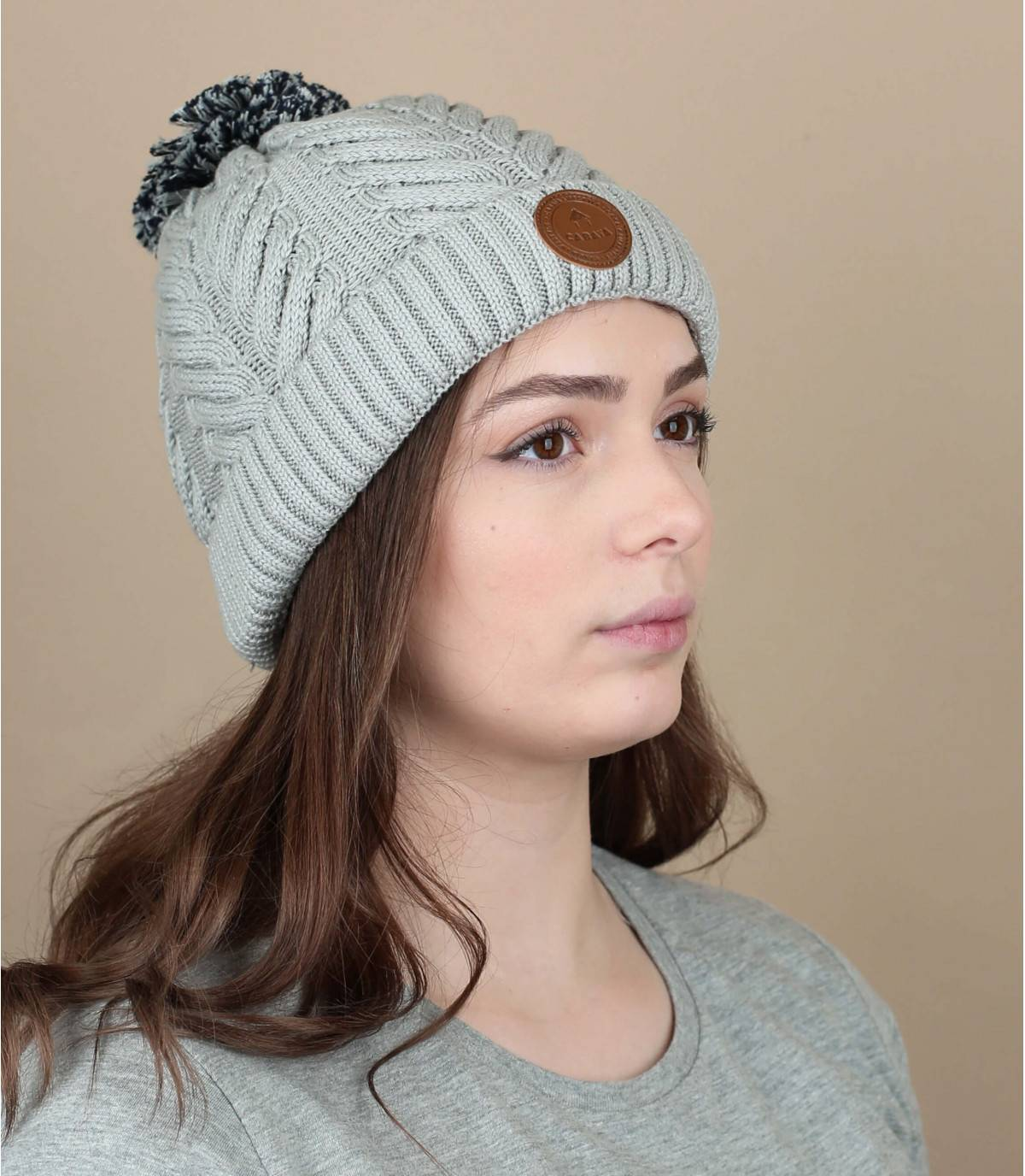 Mütze Bio-Baumwolle grau