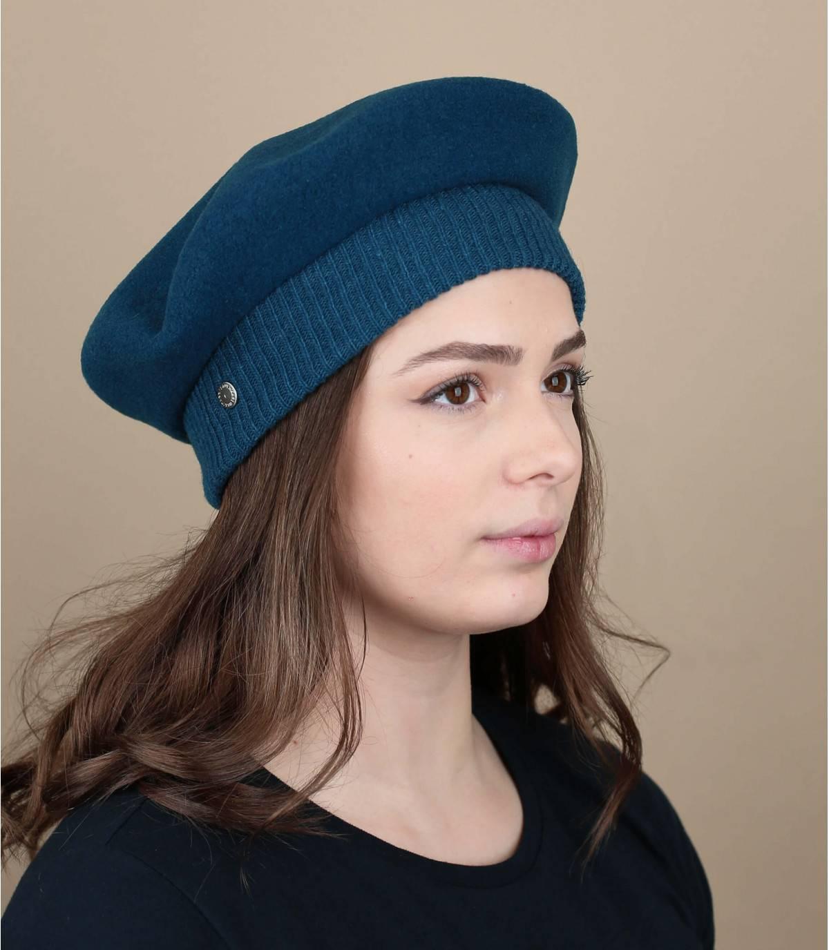 Baskenmütze Laulhère blau