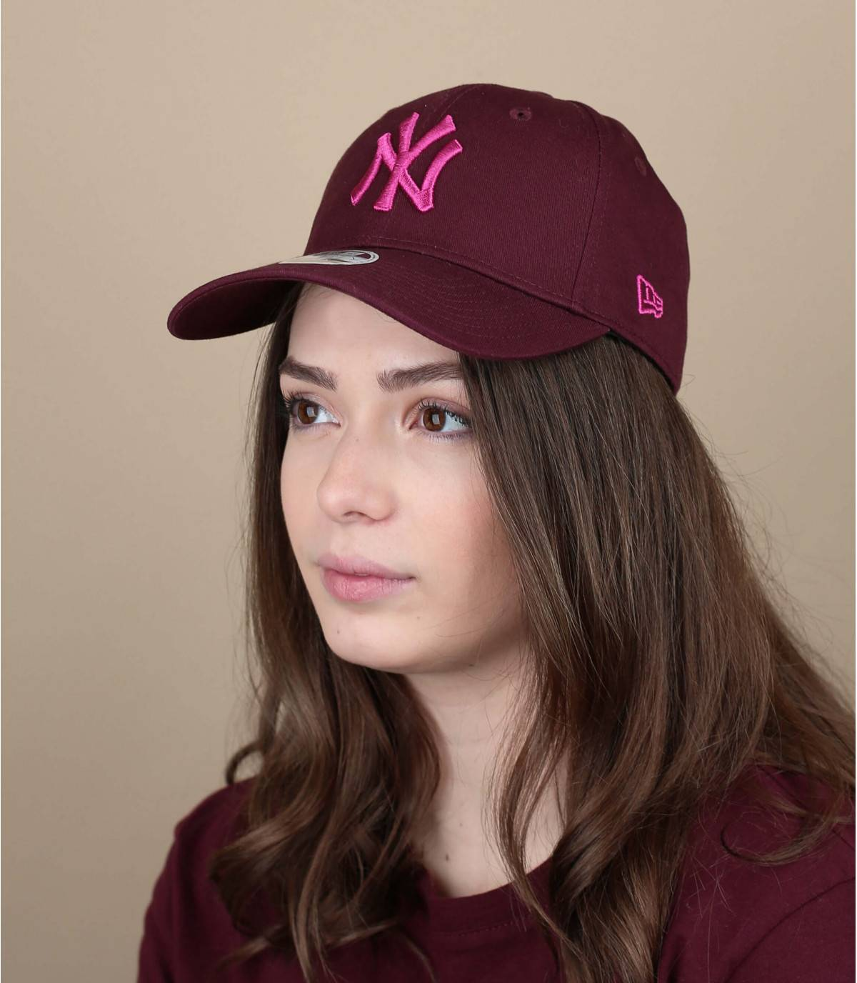 Damen Cap bordeaux