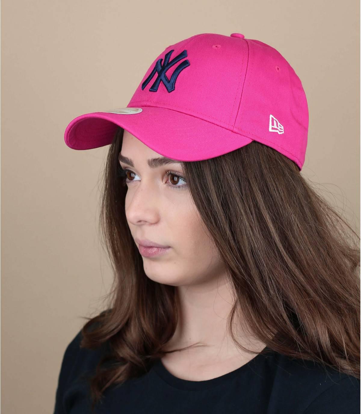 Cap NY Damen rosa