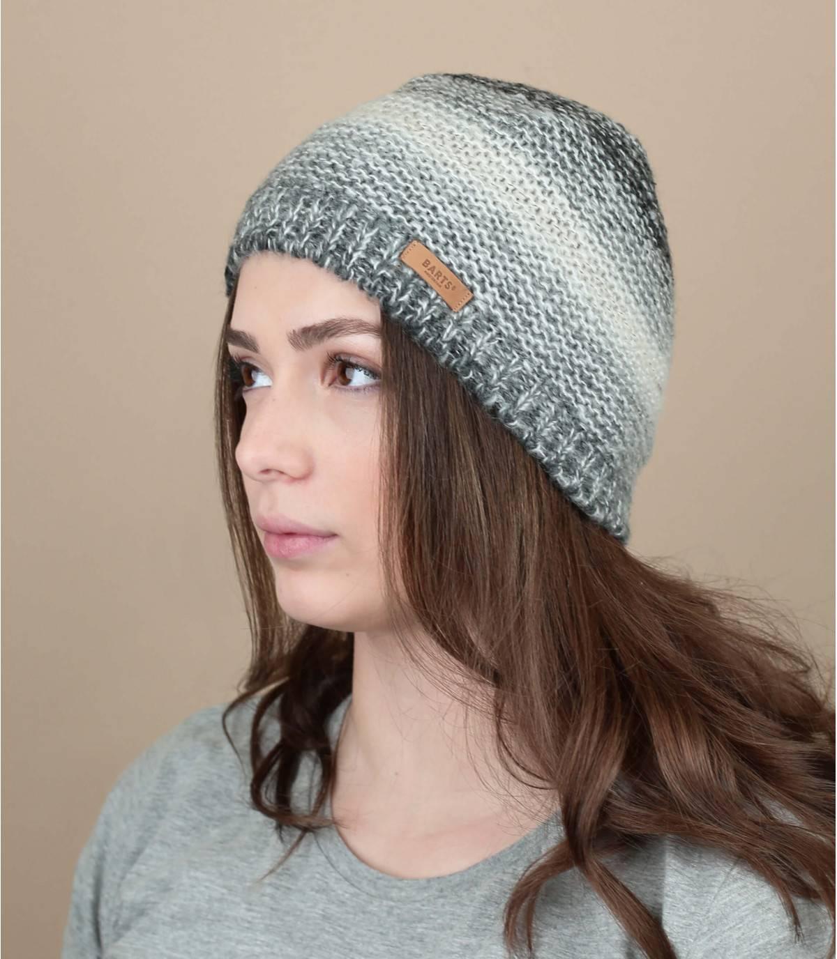 Mütze Streifen grau