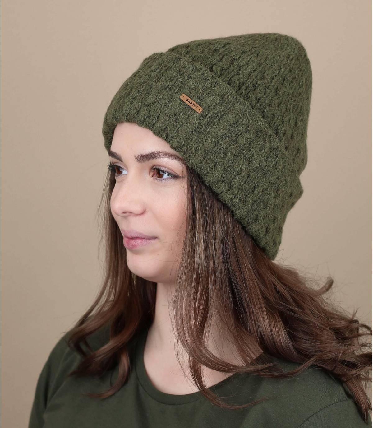 bonnet tricot vert