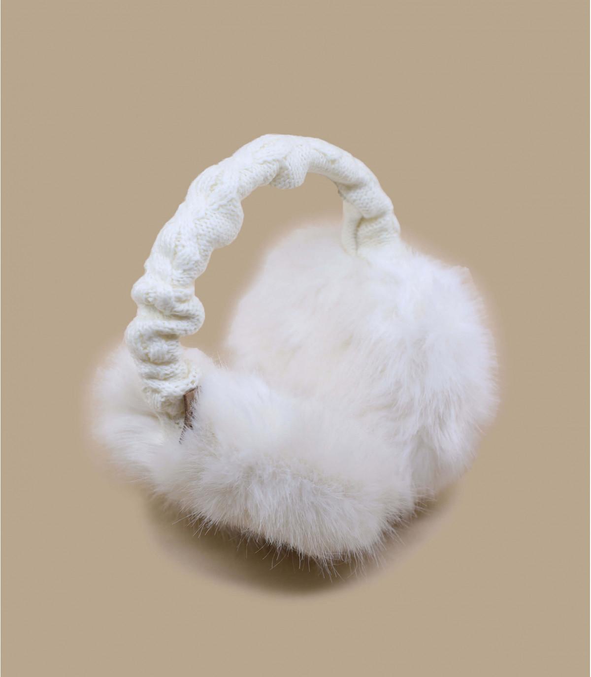 Details Fur earmuffs white - Abbildung 2