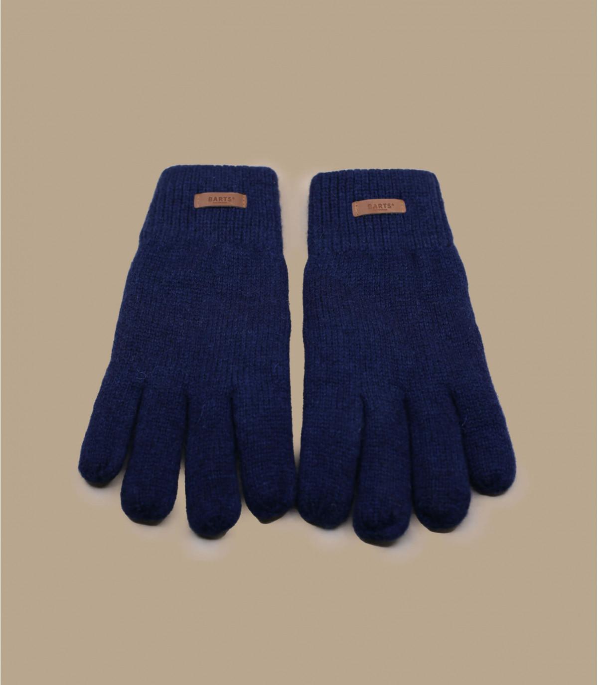 Handschuhe aus Wolle marineblau