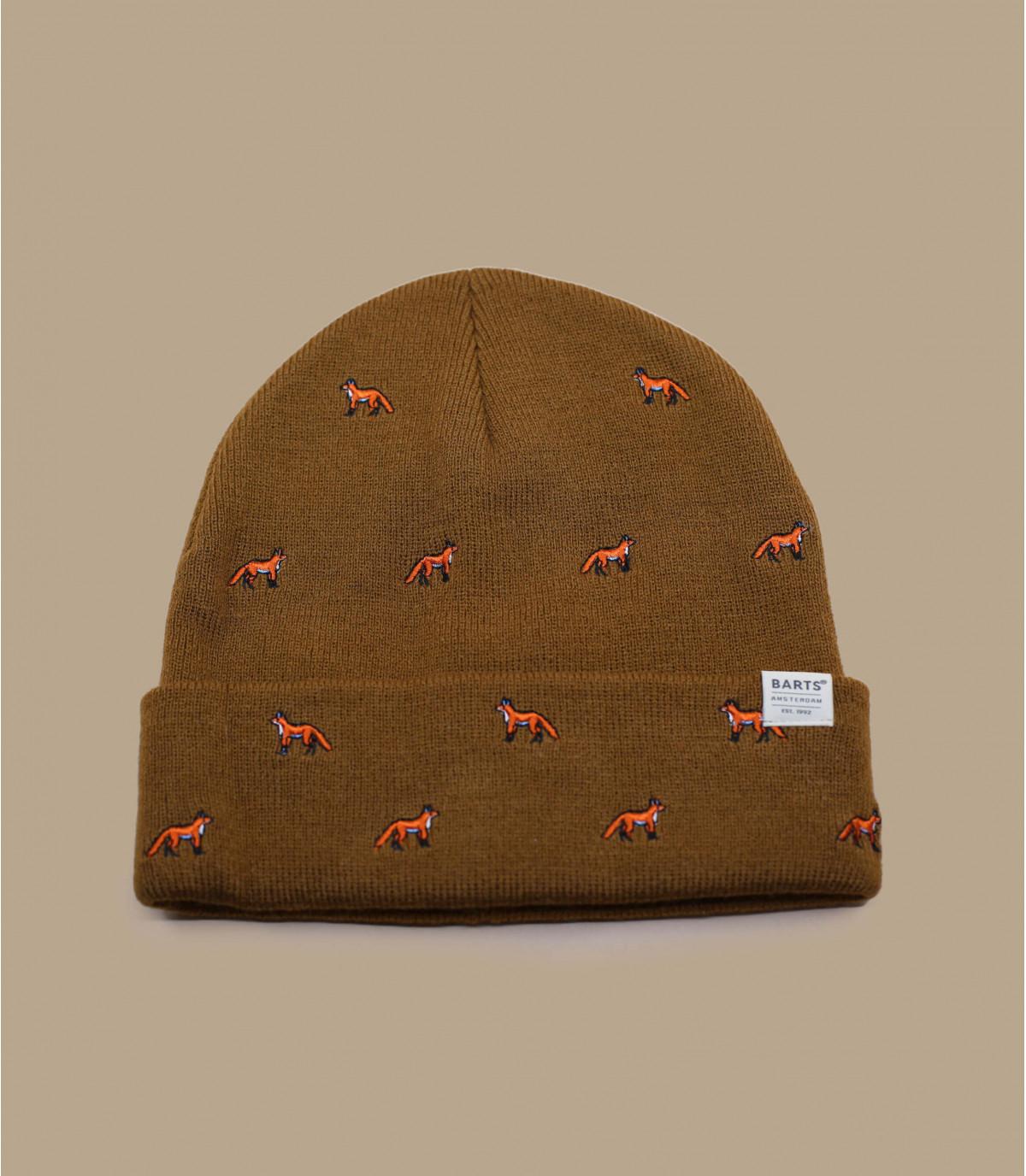 Lange Mütze beige Revers