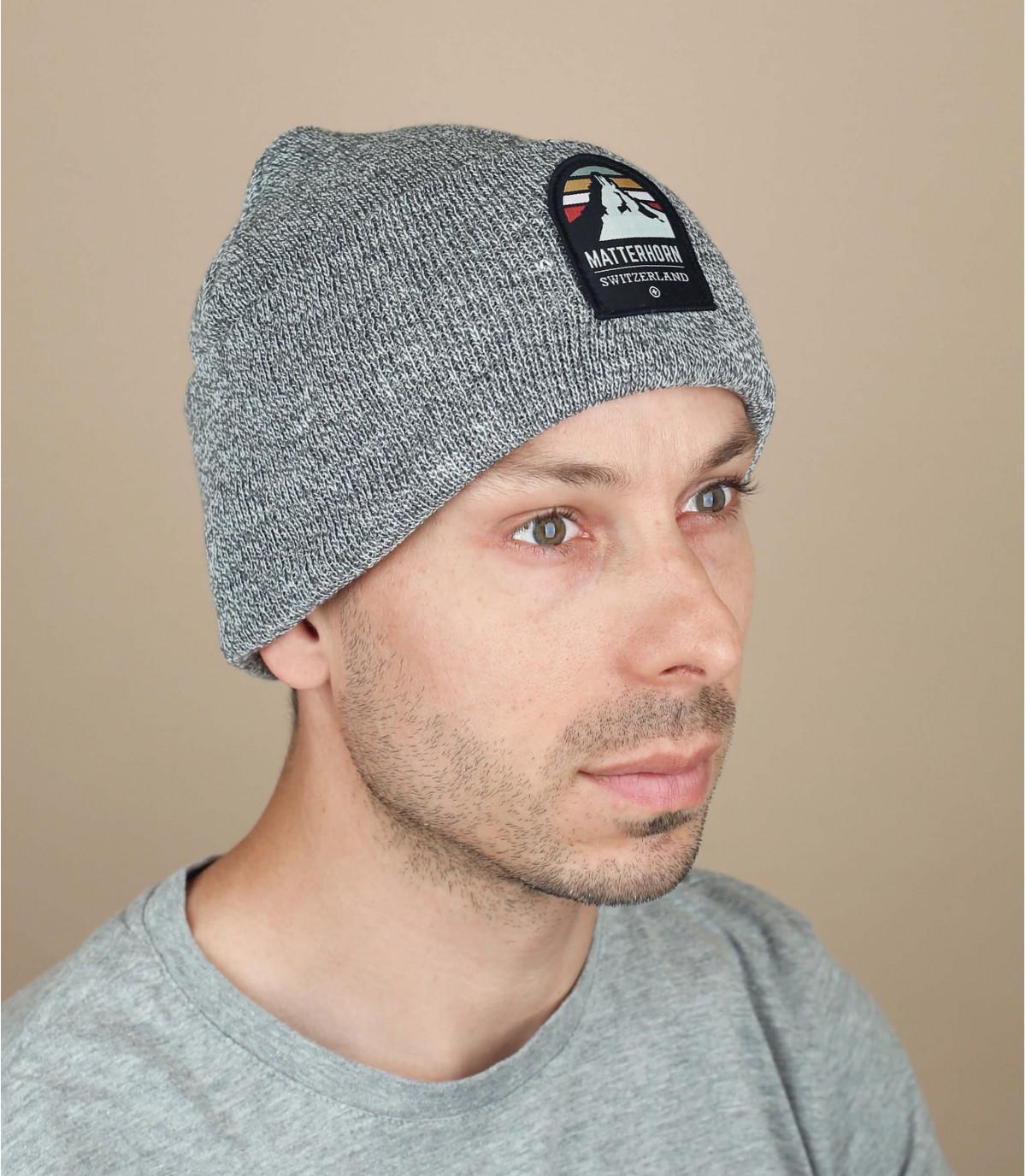 mütze matterhorn grau