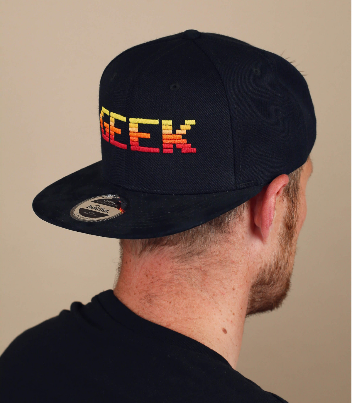Snapback Geek schwarz