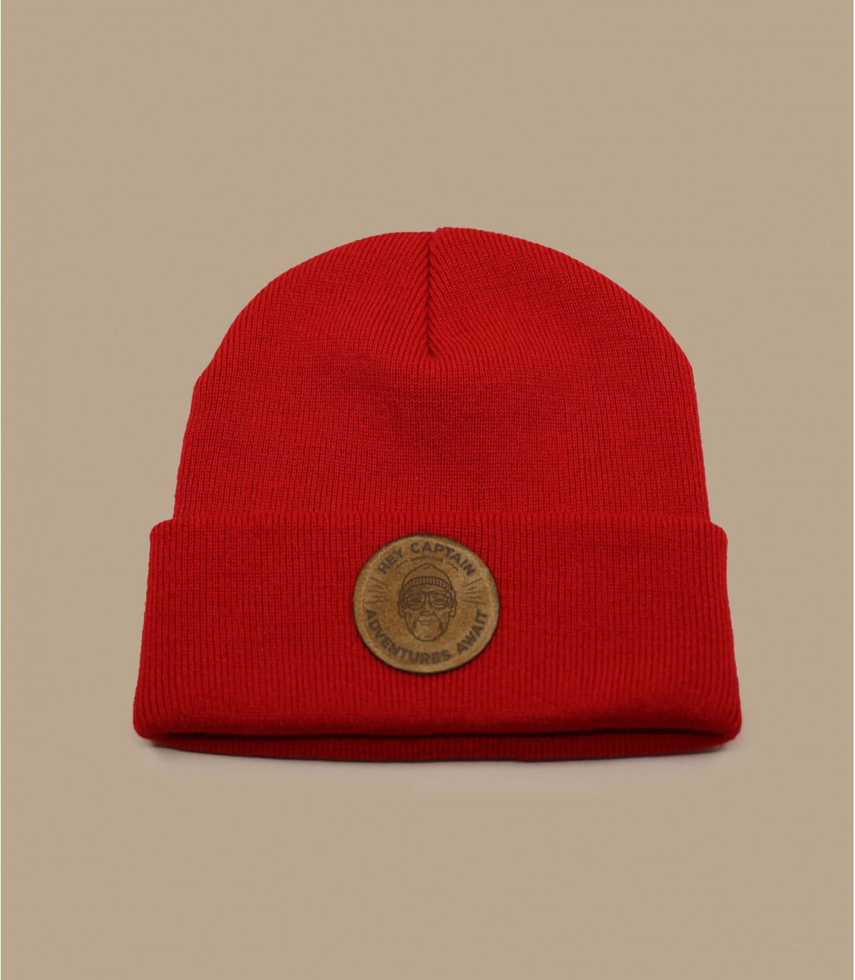Cousteau rot Mütze