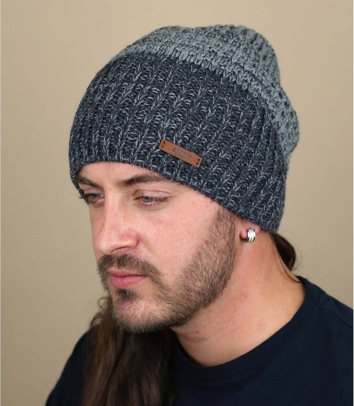 Lange Mütze blau