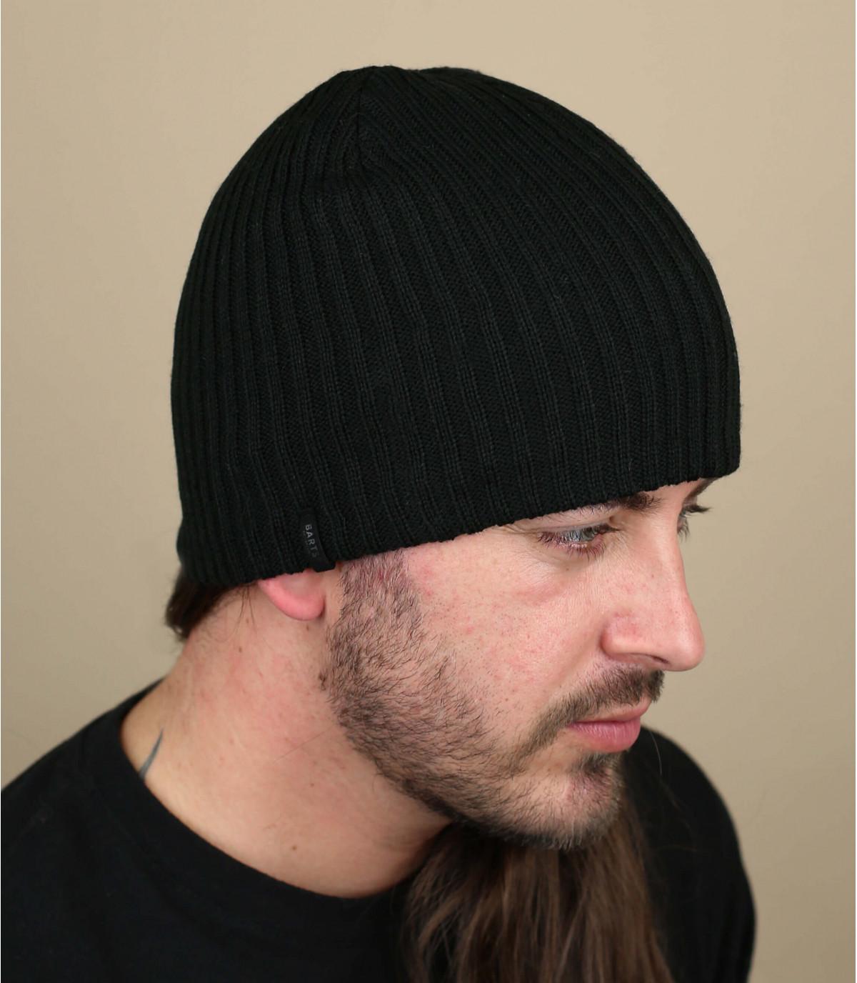 Schlichte Mütze schwarz
