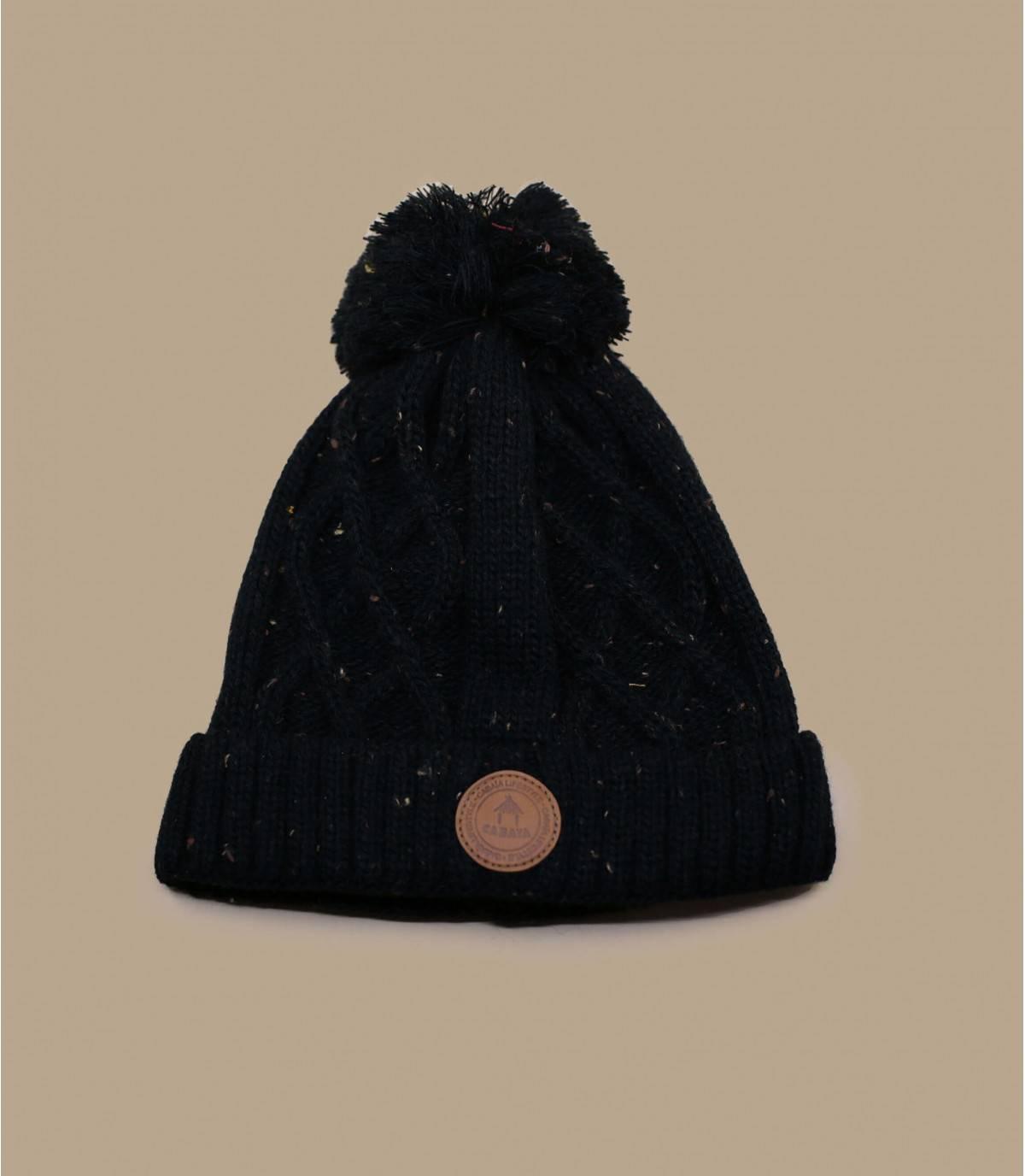 Bommelmütze schwarz Cabaia