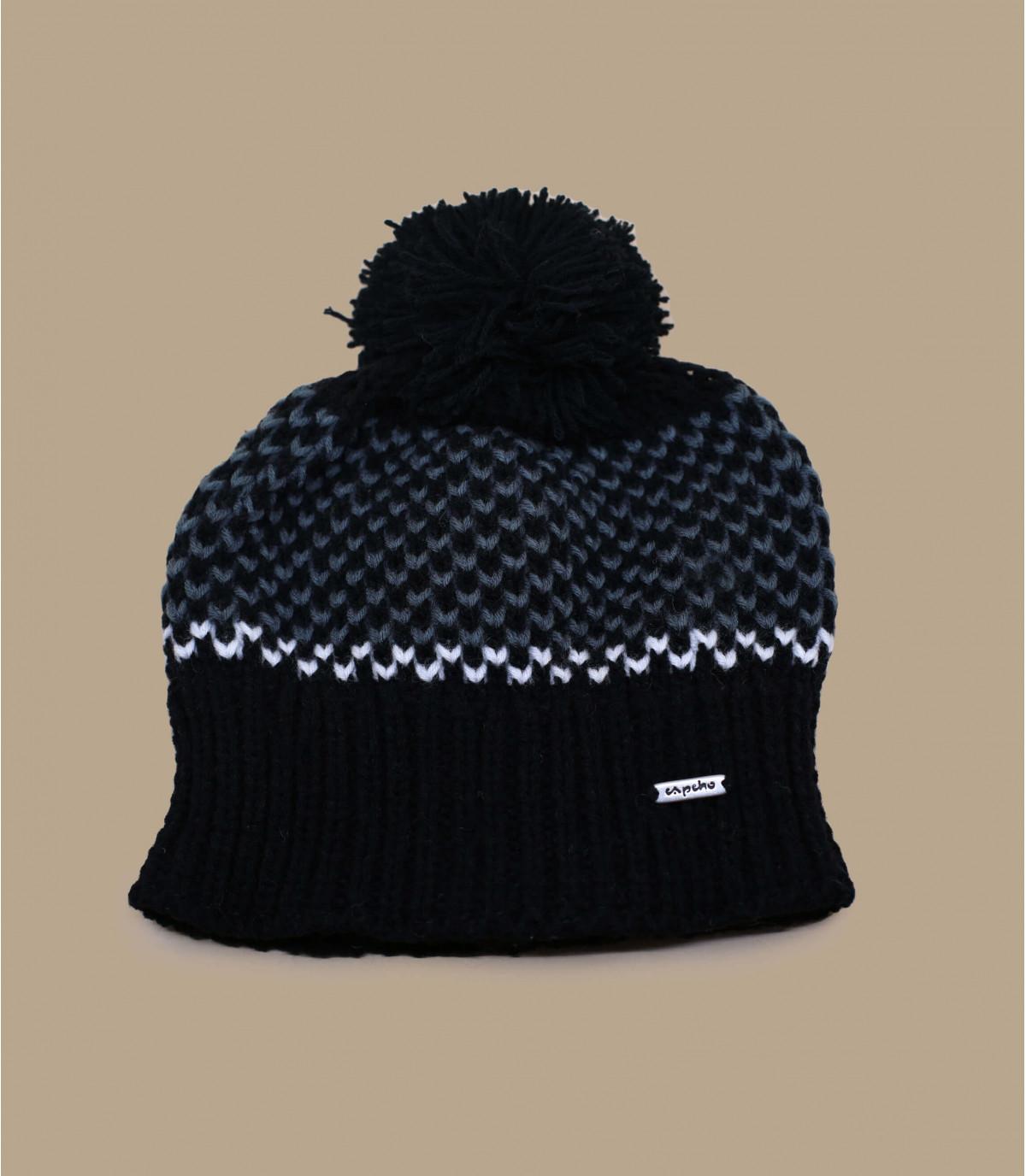 Bommel Mütze noir Capcho