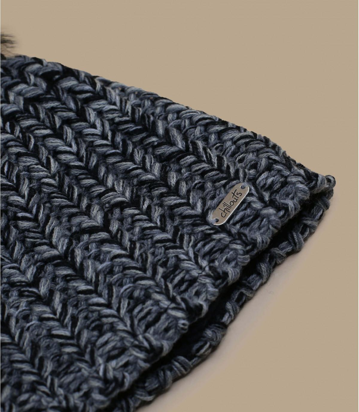 Details Curly hat black grey - Abbildung 2